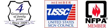 Sign Design & Sales - Member USSc & NFPA