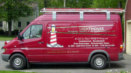 Lighthouse Plumbing Heating and Air Conditioning van